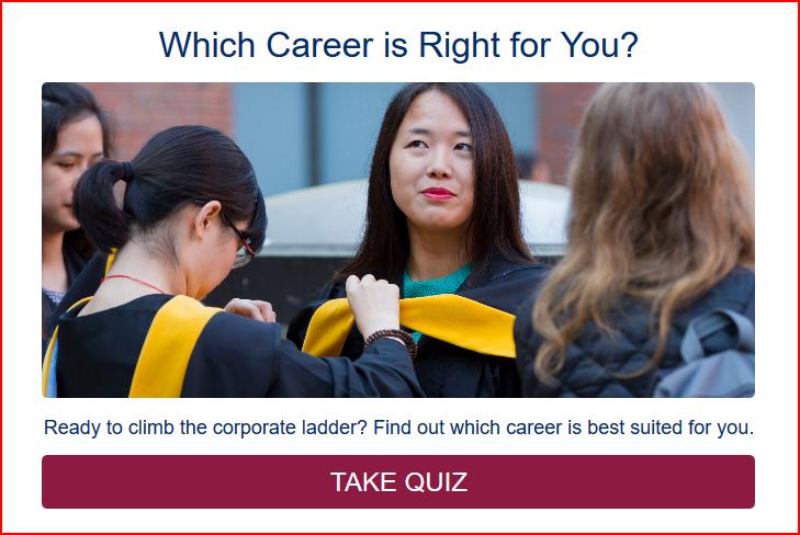 Career Quiz example