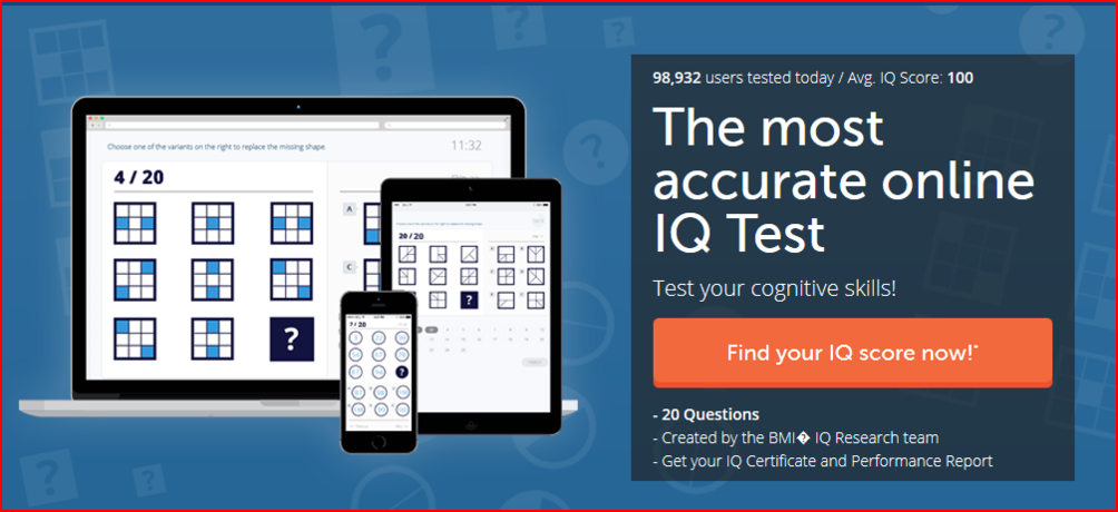 IQ Test example
