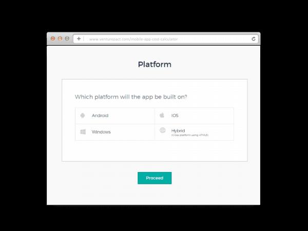 VenturePact Calculator's Platform Category