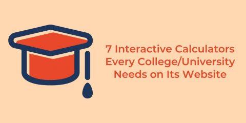 Interactive calculators for college/university