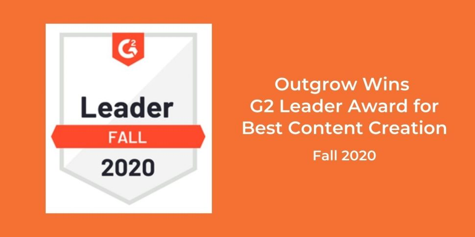 Outgrow Wins G2 Leader Awards | Best Content Creation