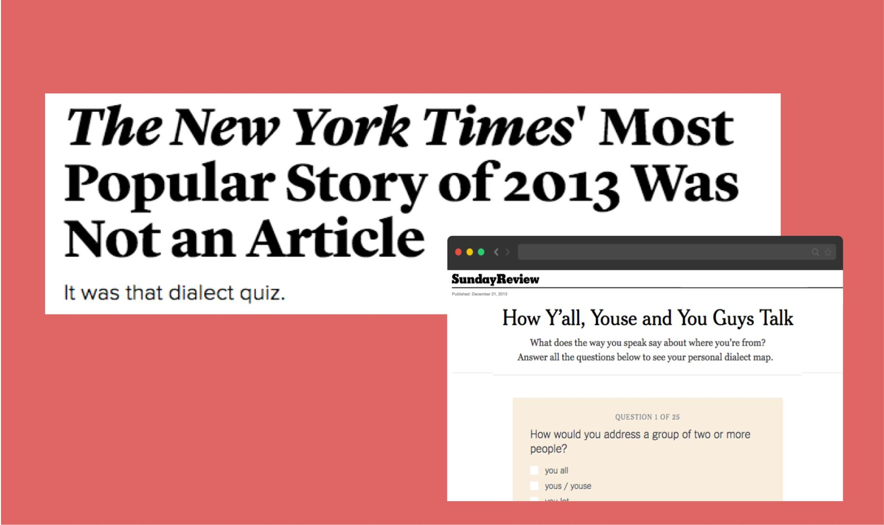 The most shared article ever published by New York Times is a quiz and not  an article.