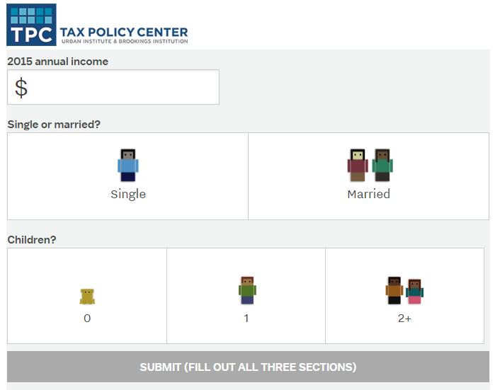 Publishing Calculators interactive content vox tax calculator