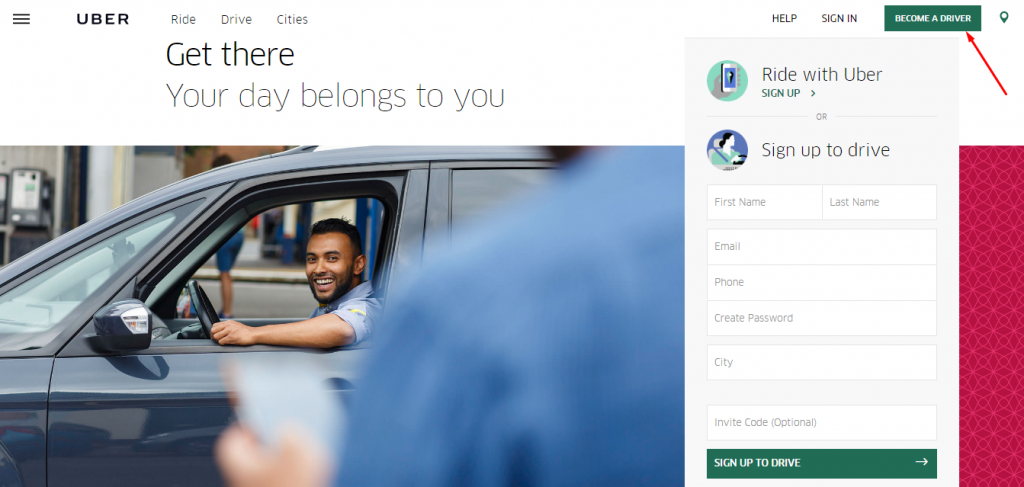 uber-homepage-how-to-generate-leads