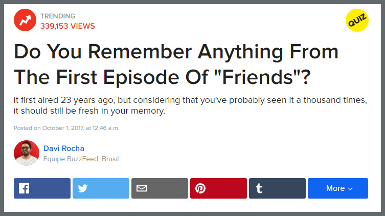 Buzzfeed style how to quizzes