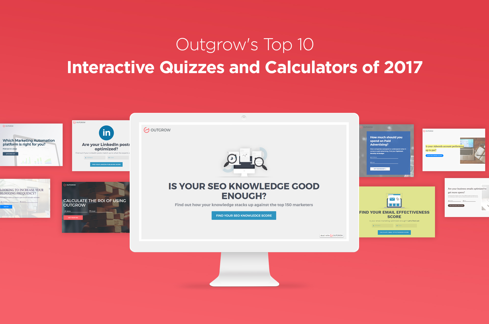 Outgrow's Top 10 Interactive Quizzes and Calculators of 2017