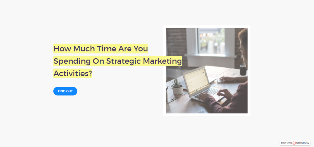 how much time are you spending on strategic marketing activities