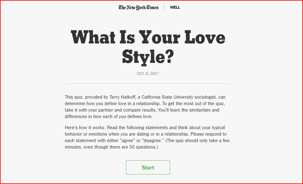 New York Times interactive content