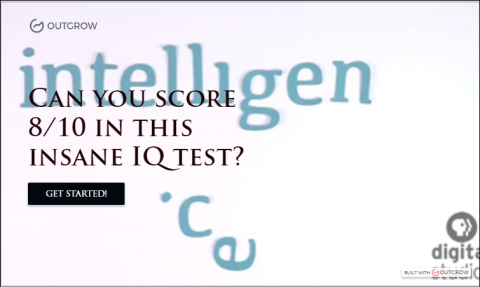 IQ Quiz in Outgrow