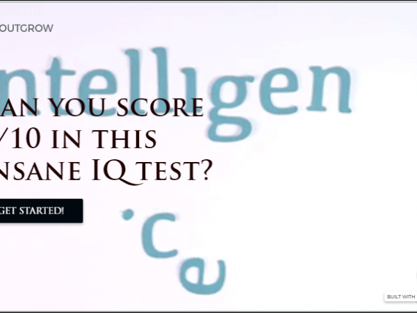 IQ Quiz in Outgrow