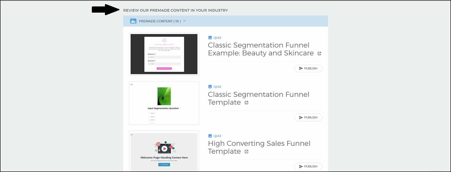 segmentation funnel