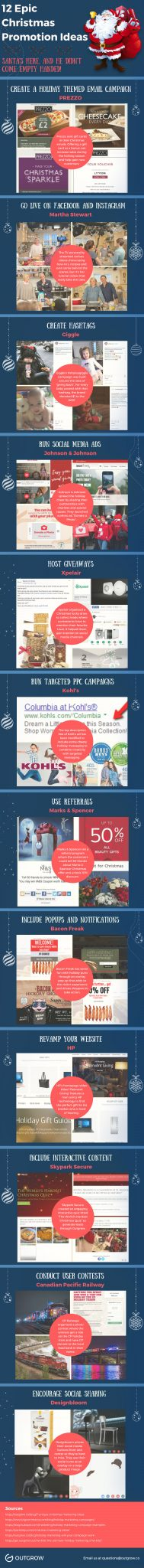 12 christmas promotional ideas infographic final