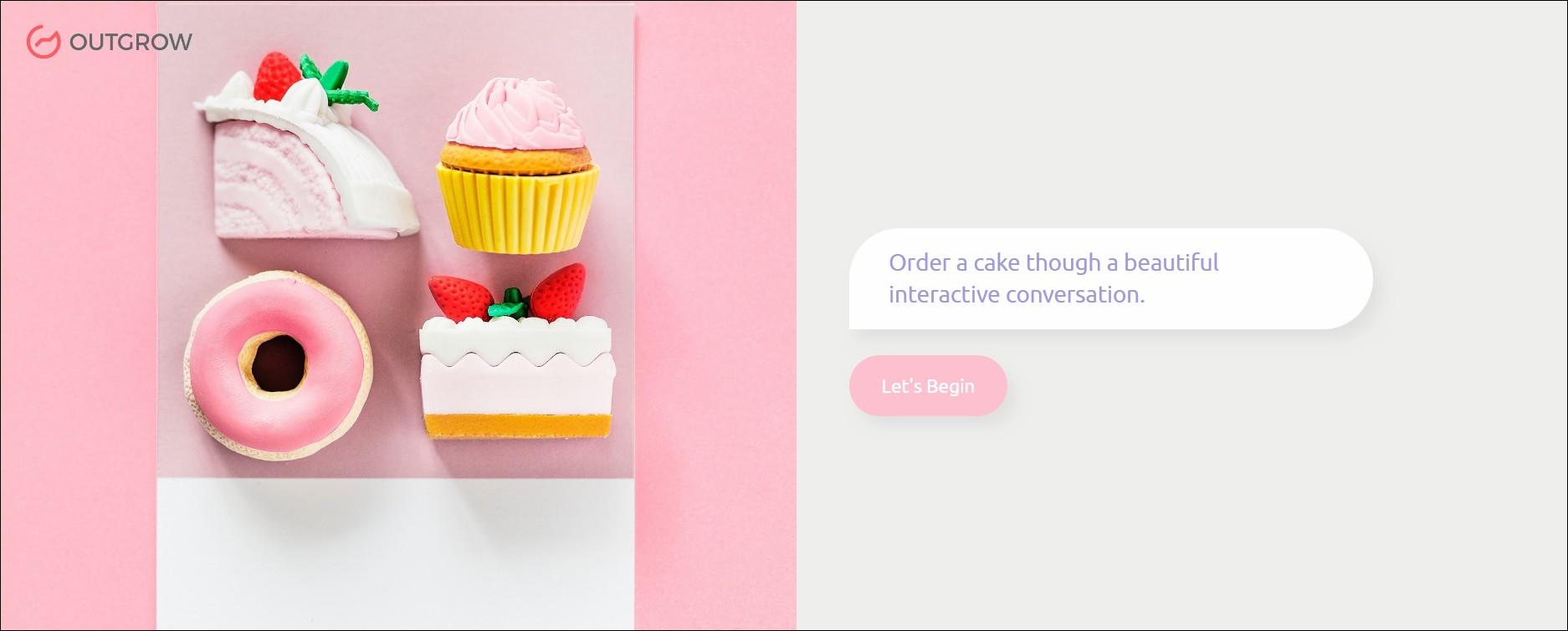 cake create a chatbot