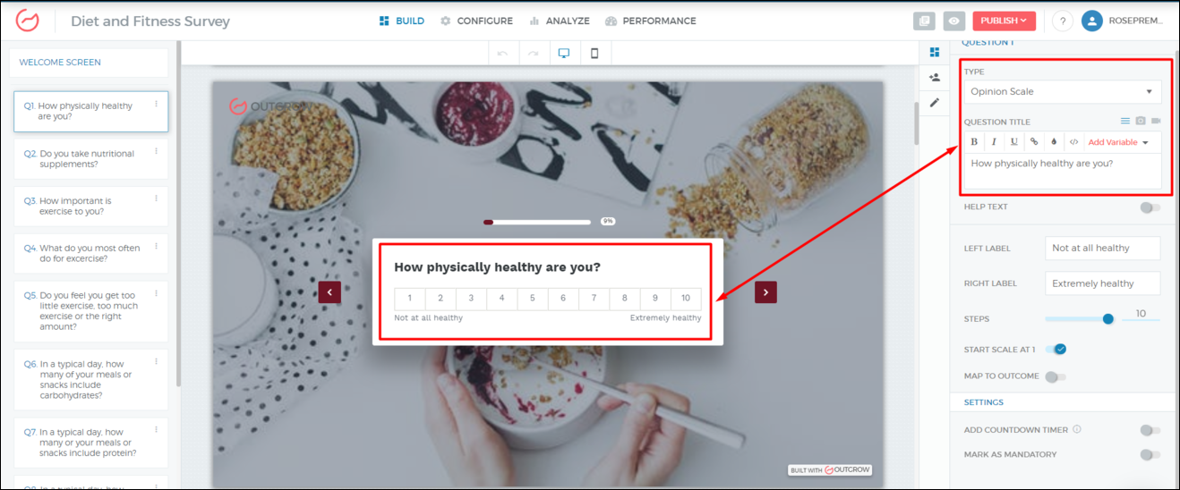 How to Create Health & Fitness Surveys | Outgrow Interactive Experiences