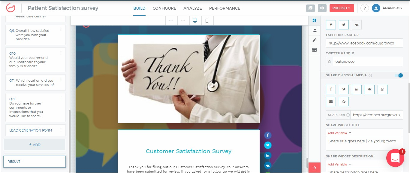 How to Create a Patient Satisfaction Survey on Outgrow