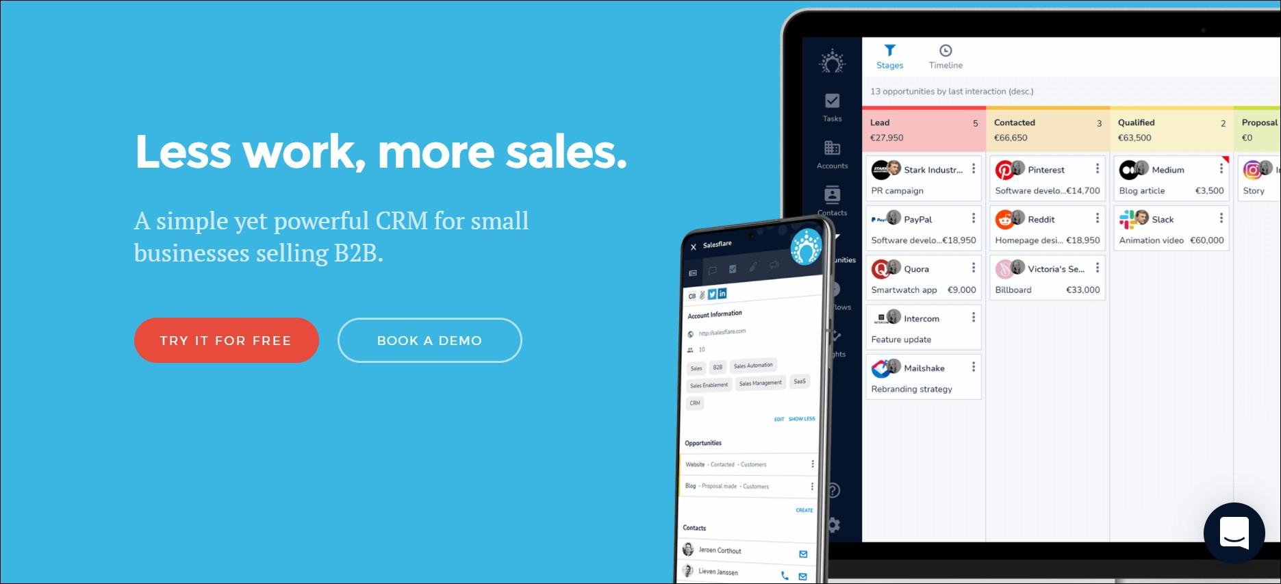 lead nurturing tool - Salesflare