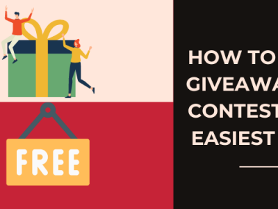 How to Do a Giveaway or Contest: The Easiest Way