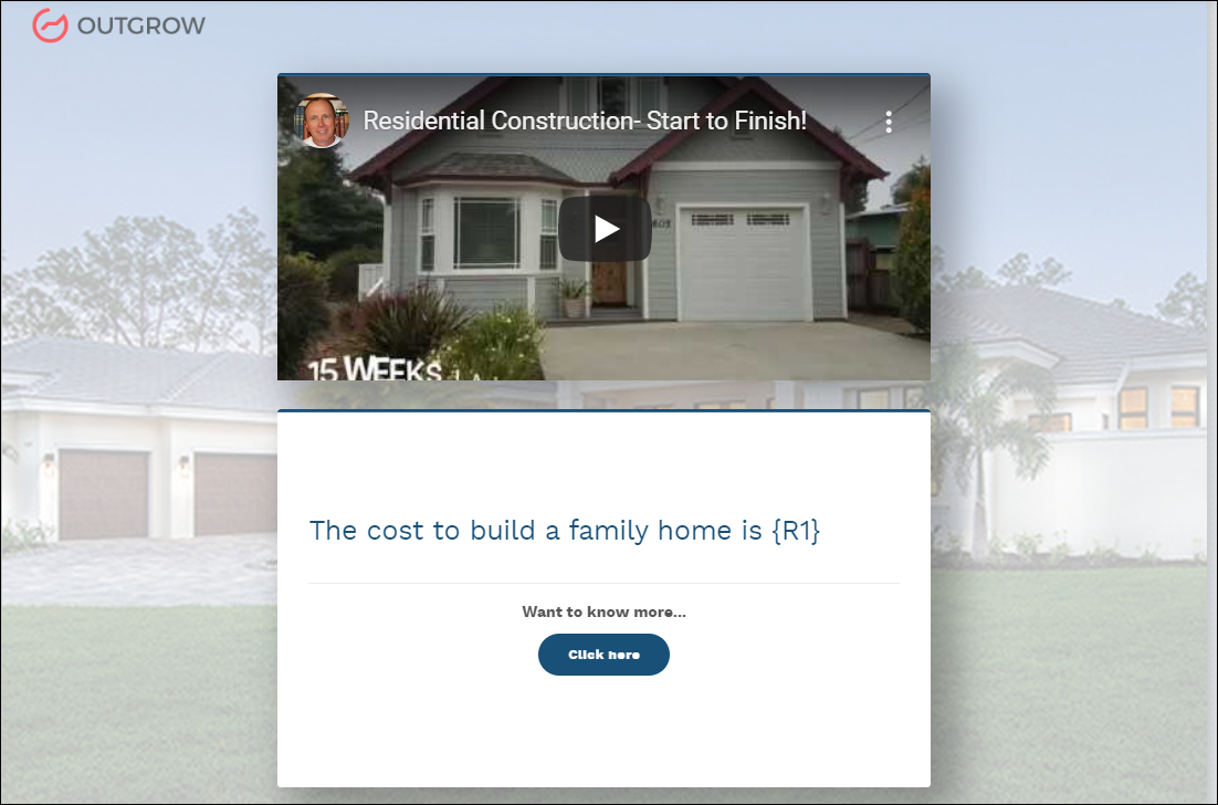 How To Build A Construction Cost Calculator On Outgrow