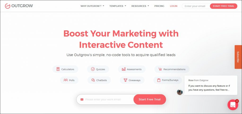 Outgrow: List Building Tool