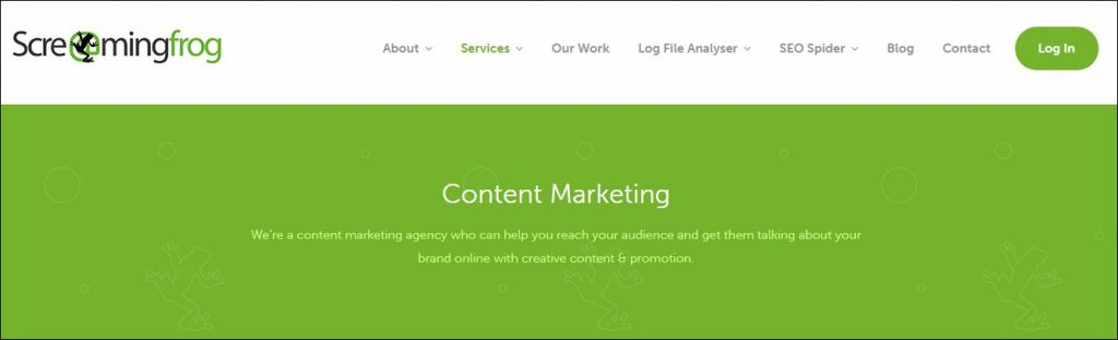 Screaming Frog- Content Marketing Agencies in Europe
