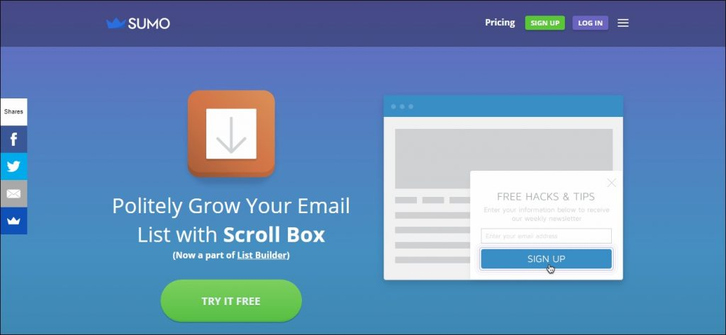 Scroll Box: List Building Tool