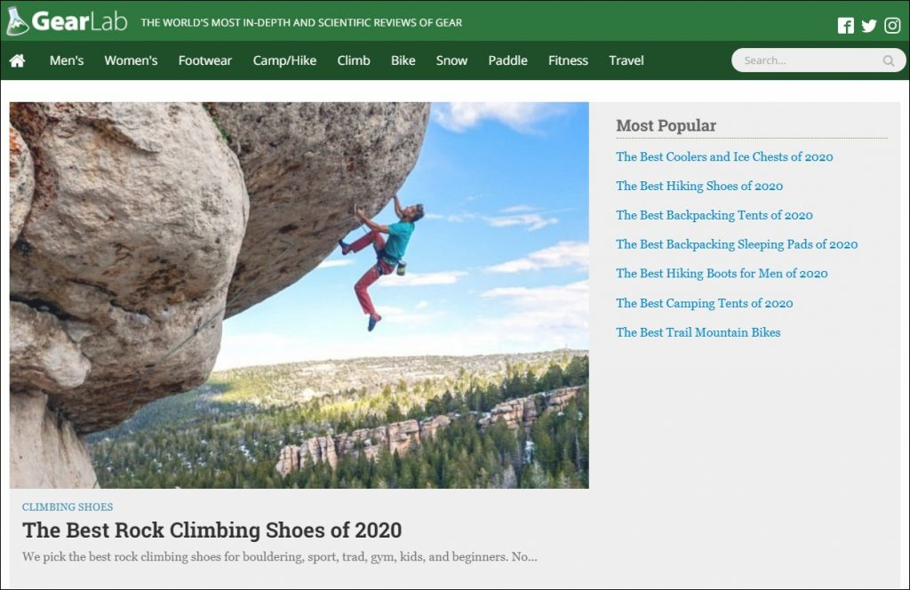 OutdoorGearLab Affiliate Marketing