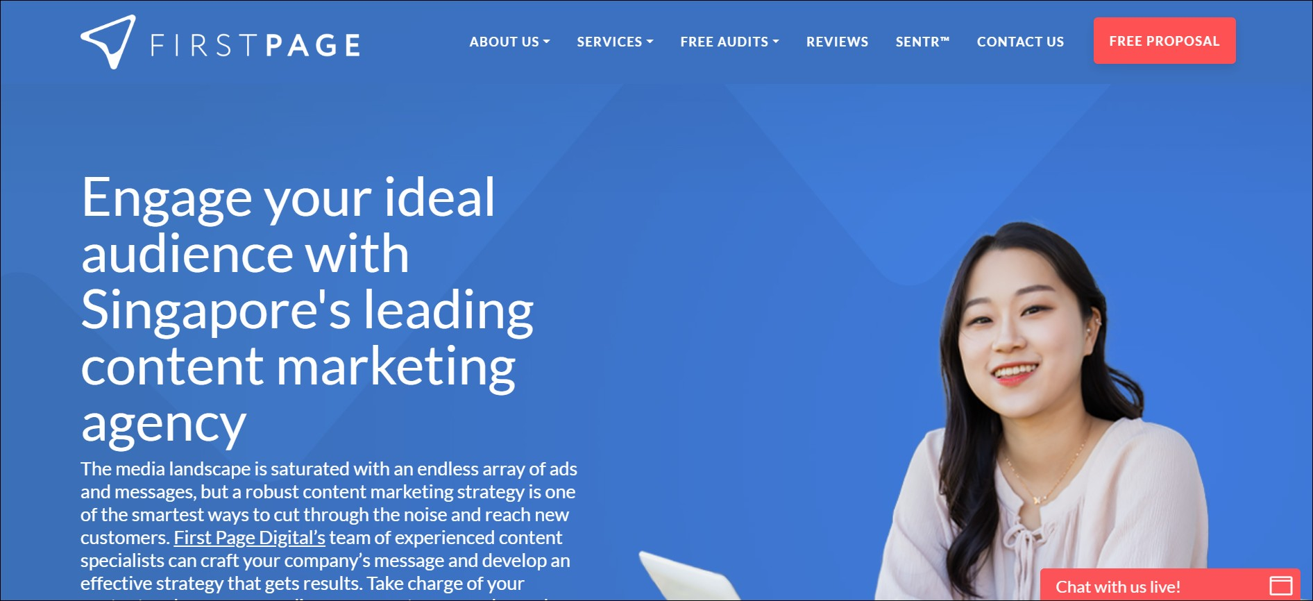 First Page: content marketing agencies in South East Asia