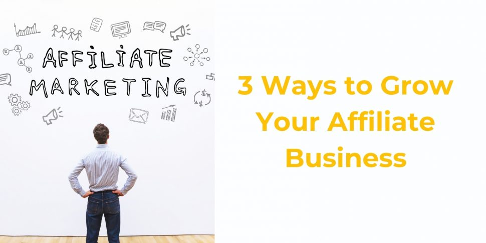 3 Ways to Grow Your Affiliate Business