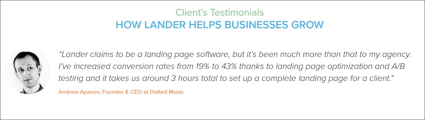 landing page review