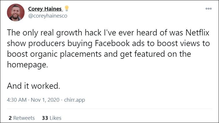 growth hacking strategies tweet
