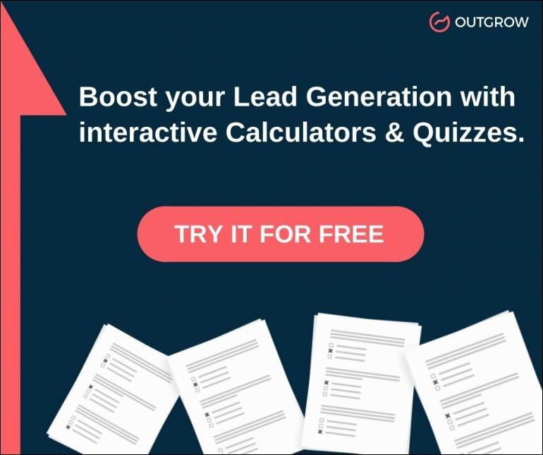 Outgrow interactive content CTA