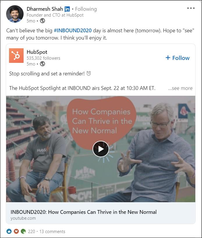 Linkedin growth hack