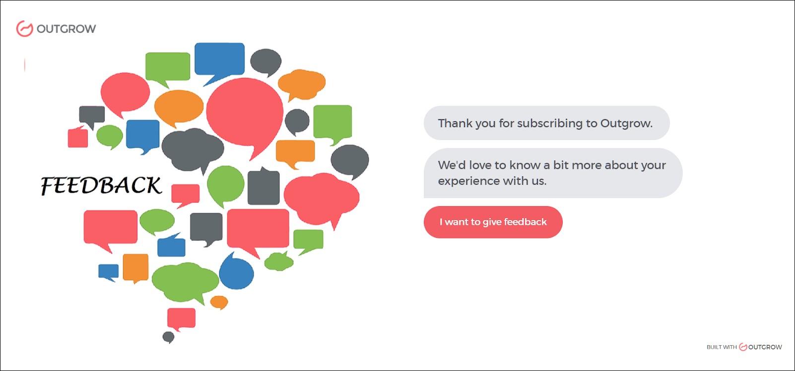 Outgrow interactive feedback form
