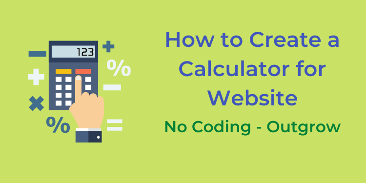 how to create a calculator for website