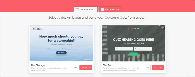 interactive content templates
