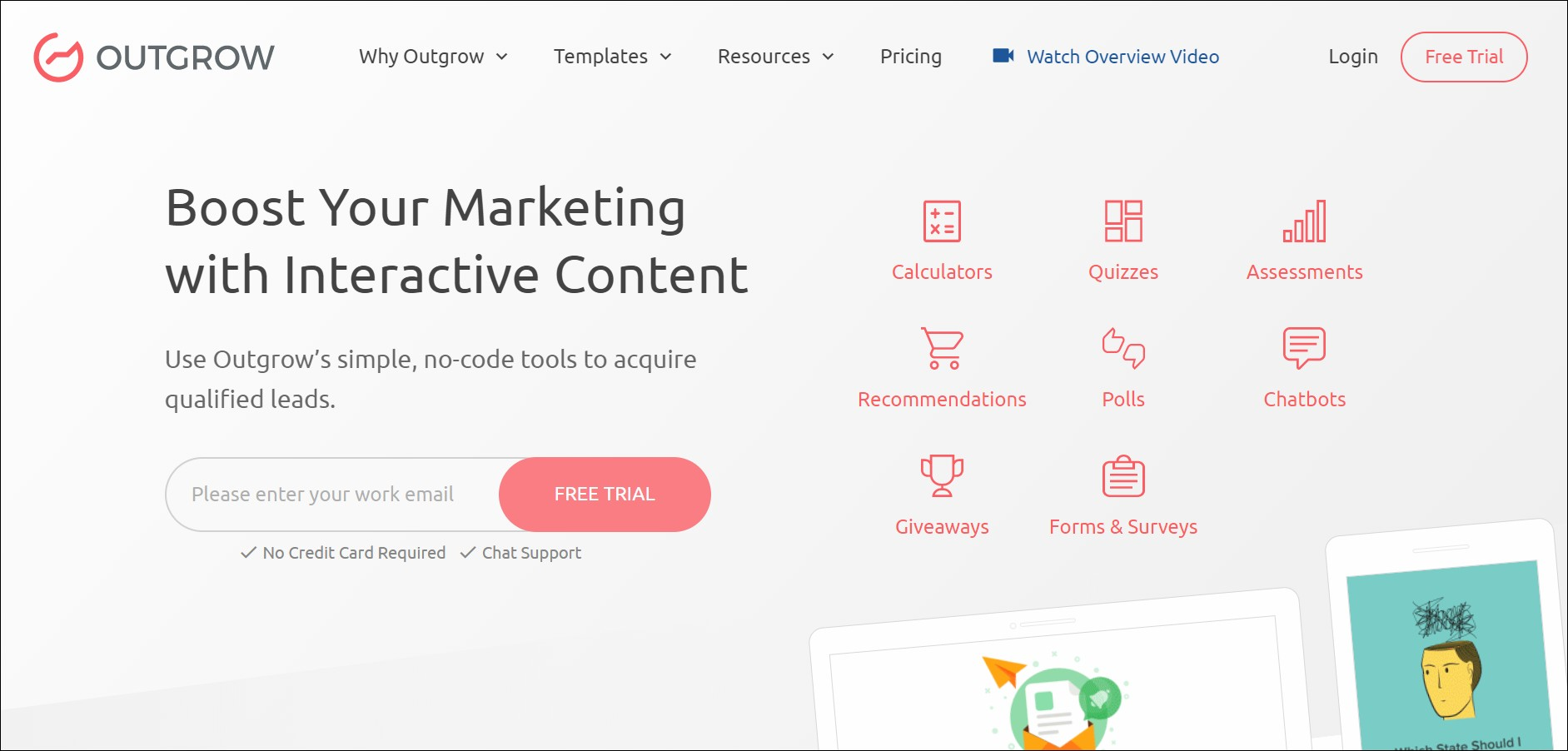 Outgrow - Best eCommerce Personalization Software