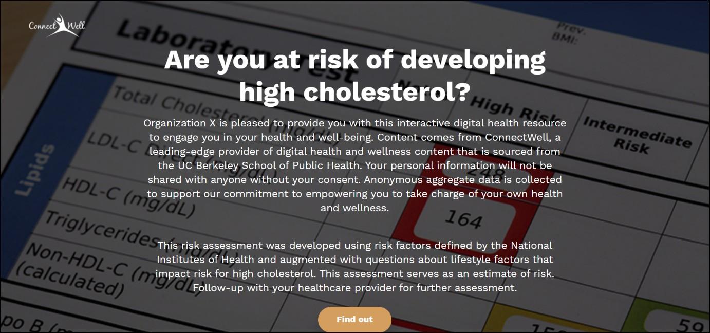 cholesterol risk calculator